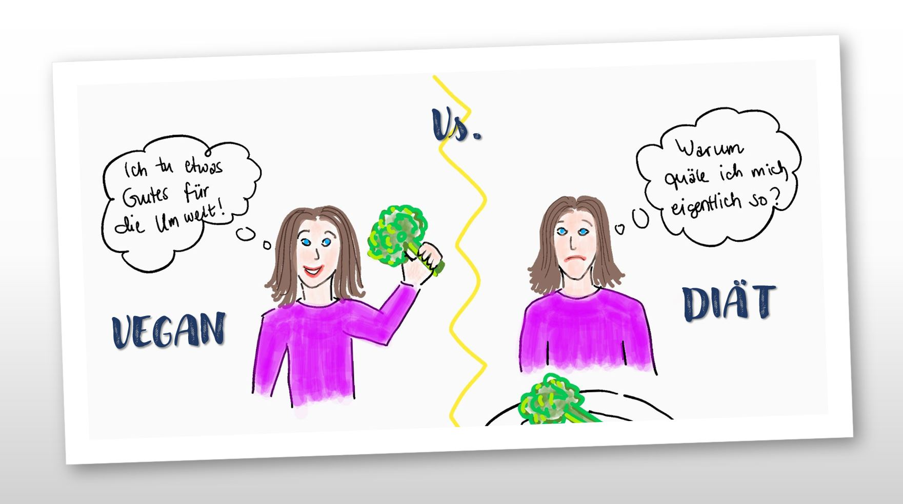 Abnehmen Tipps: Vegan vs. Diät