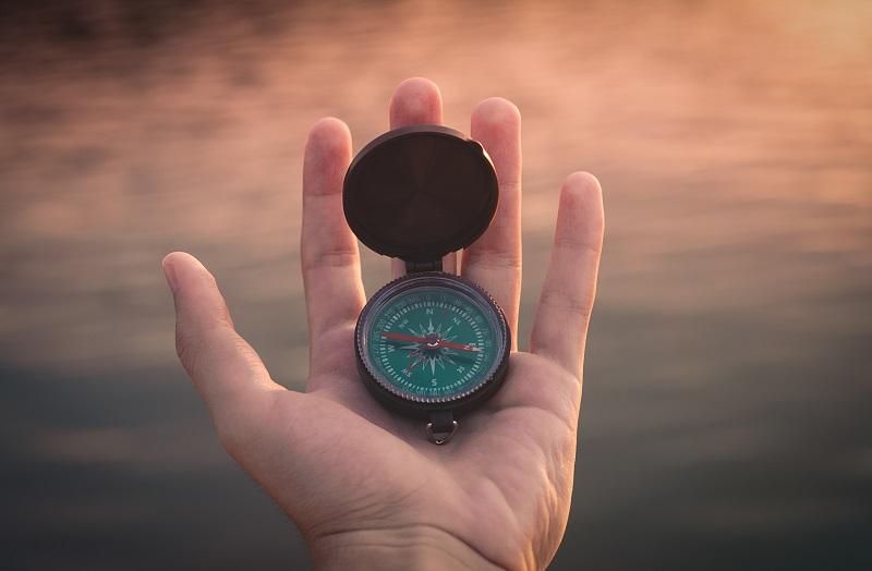 Richtung mit Kompass bestimmen